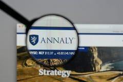 Milan, Italy - August 10, 2017: Annaly Capital Management logo o Stock Photo