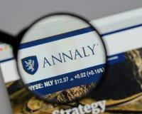 Milan, Italy - August 10, 2017: Annaly Capital Management logo o Stock Photos