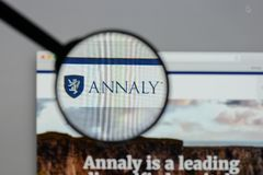 Milan, Italy - August 10, 2017: Annaly Capital Management logo o Royalty Free Stock Image