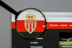 Milan, Italy - August 10, 2017: AS Monaco logo on the website ho. Mepage Stock Photography