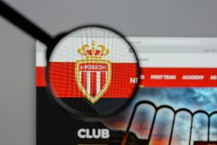 Milan, Italy - August 10, 2017: AS Monaco logo on the website ho. Mepage Stock Image