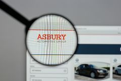 Milan, Italy - August 10, 2017: Asbury Automotive Group logo on. The website homepage Stock Photography