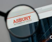Milan, Italy - August 10, 2017: Asbury Automotive Group logo on. The website homepage Stock Photo