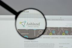 Milan, Italy - August 10, 2017: Ashland Global Holdings logo on. The website homepage stock photo