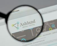Milan, Italy - August 10, 2017: Ashland Global Holdings logo on. The website homepage stock images