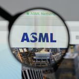 Milan, Italy - August 10, 2017: ASML Holding NV logo on the webs. Ite homepage Stock Photography