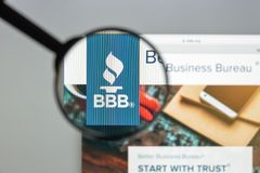 Milan, Italy - August 10, 2017: BBB website homepage. It is a no stock photography