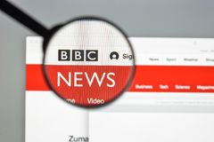 Milan, Italy - August 10, 2017: BBC website homepage. It is a Br Royalty Free Stock Photography