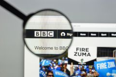Milan, Italy - August 10, 2017: BBC website homepage. It is a Br Stock Photos