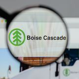 Milan, Italy - August 10, 2017: Boise Cascade logo on the websit Royalty Free Stock Image