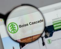 Milan, Italy - August 10, 2017: Boise Cascade logo on the websit Stock Photography