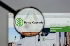 Milan, Italy - August 10, 2017: Boise Cascade logo on the websit stock photos