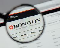 Milan, Italy - August 10, 2017: Bon-Ton Stores logo on the websi. Te homepage Royalty Free Stock Photography