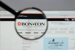 Milan, Italy - August 10, 2017: Bon-Ton Stores logo on the websi. Te homepage Royalty Free Stock Photo