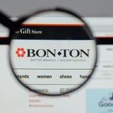 Milan, Italy - August 10, 2017: Bon-Ton Stores logo on the websi. Te homepage Stock Photo