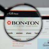 Milan, Italy - August 10, 2017: Bon-Ton Stores logo on the websi. Te homepage Royalty Free Stock Image