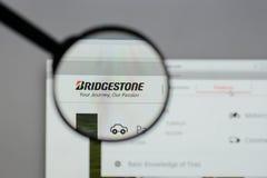 Milan, Italy - August 10, 2017: Bridgestone logo on the website. Milan, Italy - August 10, 2017: Bridgestone Royalty Free Stock Photography