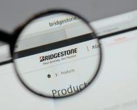 Milan, Italy - August 10, 2017: Bridgestone logo on the website. Milan, Italy - August 10, 2017: Bridgestone Royalty Free Stock Images