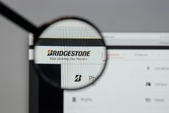 Milan, Italy - August 10, 2017: Bridgestone logo on the website. Milan, Italy - August 10, 2017: Bridgestone Stock Images