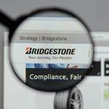Milan, Italy - August 10, 2017: Bridgestone logo on the website. Milan, Italy - August 10, 2017: Bridgestone Stock Photo