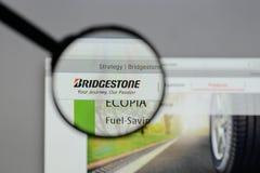 Milan, Italy - August 10, 2017: Bridgestone logo on the website. Milan, Italy - August 10, 2017: Bridgestone Stock Image