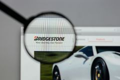Milan, Italy - August 10, 2017: Bridgestone logo on the website. Milan, Italy - August 10, 2017: Bridgestone Stock Photography