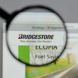 Milan, Italy - August 10, 2017: Bridgestone logo on the website. Milan, Italy - August 10, 2017: Bridgestone Royalty Free Stock Image