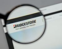 Milan, Italy - August 10, 2017: Bridgestone logo on the website. Milan, Italy - August 10, 2017: Bridgestone Royalty Free Stock Photos