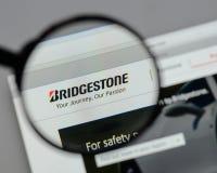 Milan, Italy - August 10, 2017: Bridgestone logo on the website. Milan, Italy - August 10, 2017: Bridgestone Stock Photos