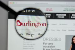 Milan, Italy - August 10, 2017: Burlington Stores logo on the we. Bsite homepage Stock Image