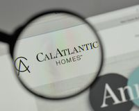 Milan, Italy - August 10, 2017: Cal Atlantic Group logo on the w. Ebsite homepage Stock Images