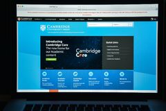 Milan, Italy - August 10, 2017: Cambridge.org website homepage. Royalty Free Stock Photo