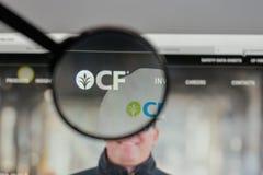 Milan, Italy - August 10, 2017: CF Industries Holdings logo on t. He website homepage Stock Image