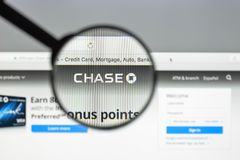 Milan, Italy - August 10, 2017: Chase bank website. It is a nati. Onal bank that constitutes the consumer and commercial banking subsidiary of the U.S.  holding Stock Photo