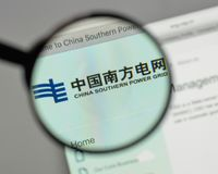 Milan, Italy - August 10, 2017: China Southern Power Grid logo o. N the website homepage Stock Photo