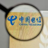 Milan, Italy - August 10, 2017: China Telecom logo on the websit. E homepage Royalty Free Stock Images