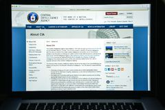 Milan, Italy - August 10, 2017: Cia website homepage. It is a ci Royalty Free Stock Image