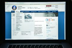 Milan, Italy - August 10, 2017: Cia website homepage. It is a ci Stock Photography