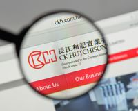 Milan, Italy - August 10, 2017: CK Hutchison Holdings logo on th. E website homepage Stock Images