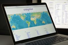 Milan, Italy - August 10, 2017: Craigslist.org website homepage. Stock Photography