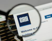 Milan, Italy - August 10, 2017: CRH logo on the website homepag. E royalty free stock images