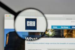 Milan, Italy - August 10, 2017: CRH logo on the website homepag. E royalty free stock photo