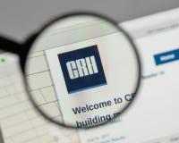 Milan, Italy - August 10, 2017: CRH logo on the website homepag. E stock images