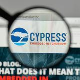 Milan, Italy - August 10, 2017: Cypress Semiconductor logo on th. E website homepage Stock Photo