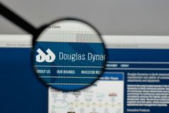 Milan, Italy - August 10, 2017: Douglas Dynamics logo on the web. Site homepage Royalty Free Stock Image