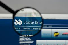 Milan, Italy - August 10, 2017: Douglas Dynamics logo on the web. Site homepage Stock Photo