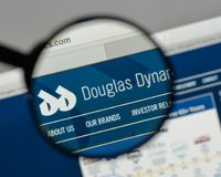 Milan, Italy - August 10, 2017: Douglas Dynamics logo on the web. Site homepage Stock Photography