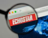 Milan, Italy - August 10, 2017: EchoStar logo on the website ho. Milan, Italy - August 10, 2017: EchoStar Royalty Free Stock Images