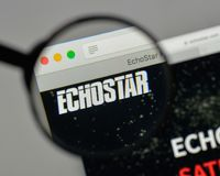 Milan, Italy - August 10, 2017: EchoStar logo on the website ho. Milan, Italy - August 10, 2017: EchoStar Stock Photos