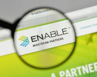Milan, Italy - August 10, 2017: Enable Midstream Partners logo o. N the website homepage Stock Photo